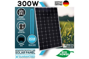 300W Solar Panel Mono 12V Single Power Kit Camping Power Battery Charge Caravan