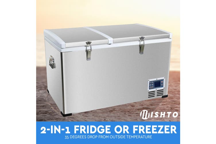 NEW! 85L Portable Freezer Fridge 12V/24V/240V Camping Car Boat Caravan Cooler