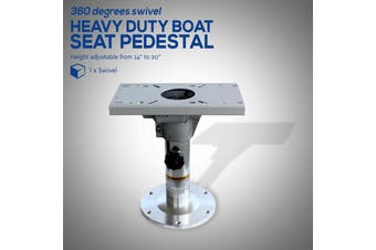 Height Adjustable Heavy Duty Boat Seat Pedestal 355mm - 508mm with Slider