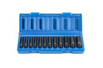 "12PCS 1/4"" Dr 6pt Metric Deep Magnetic Impact Socket 5mm - 15mm 6050R1201"