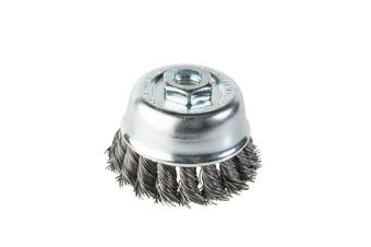 Twist Knot Cup Brush For High Speed Angle Grinder KC-54 4238442