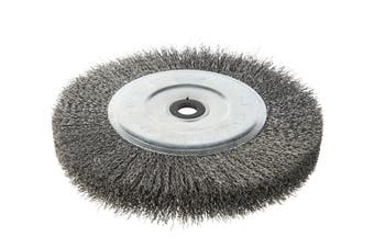 CRIMPED WIRE BENCH MOUNT WHEEL BRUSH 0.3mm Wire 200mm x 25W 25MB WG-85 1147212
