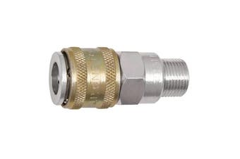 "Jamec Pem 1/4"" BSP High Volume One Touch Male Coupling 250M4 26.3180"