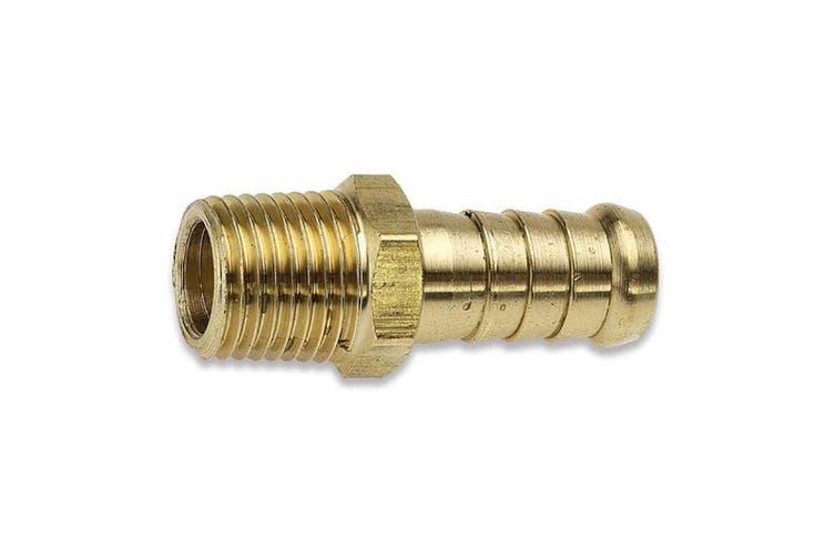 "Jamec Pem 3/8"" BSP Tailpiece Male Barbed End 8TM6 Brass 28.1214"