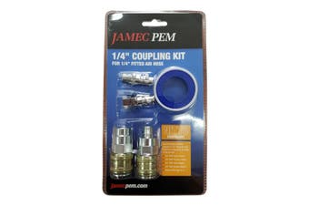 "Jamec Pem 1/4""Coupling Kit For Fitted Air Hose Nitto Equivalent"