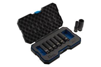 "PCL APA11 8 Piece 1/2"" Drive Deep Impact Socket Set Car Pneumatic Components"