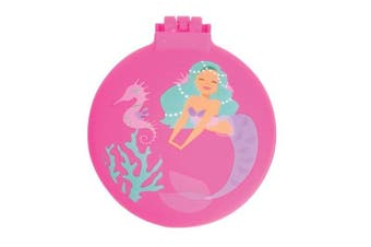 IS Gifts - Mermaid - Compact Hairbrush Pink, Purple, Turquise