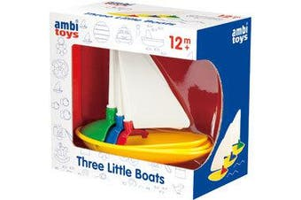 Ambi Toys - Three Little Boats Baby Activity Bath Toy