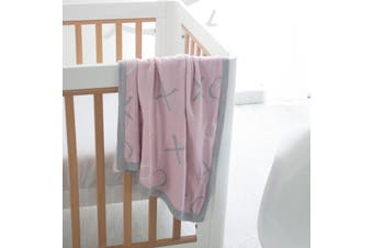 Bubba Blue Bamboo Knit Blanket - Pink Bloom