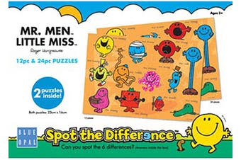 Blue Opal Mr Men Spot the Difference Jigsaw Puzzles 12&24 pieces