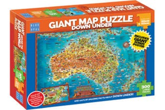 Blue Opal Giant Maps Down Under Jigsaw Puzzle 300 piece BL01880