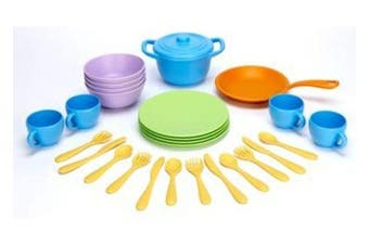 Green Toys Recycled Plastic Cookware And Dining Set - 26 Pieces 100% Recycled BPA free