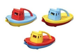 Green Toys Tug Boat Bath & Water Play-Red,Blue or Yellow 100%recycled BPA free