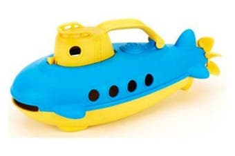 Green Toys Submarine Bath and Water Toy - Yellow Cabin 100% Recycled BPA free