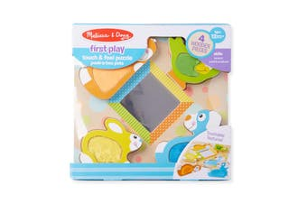 Melissa and Doug First Play - Touch & Feel Puzzle - Pets