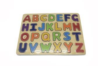 Kaper Kidz - Wooden Alphabet Puzzle - Upper Case
