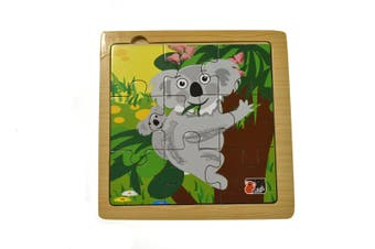 Kaper Kidz - Koala Wooden Jigsaw 9 pieces