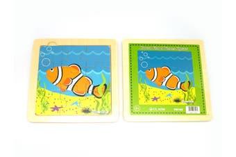 Kaper Kidz - Wooden Clown Fish Jigsaw - 9 pieces