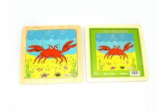 Kaper Kidz - Wooden Crab Jigsaw 9 pieces