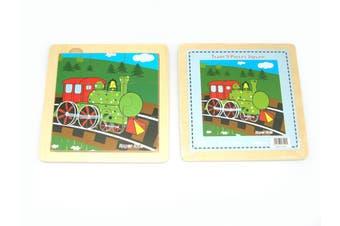 Kaper Kidz - Wooden Train Jigsaw Puzzle - 9pcs