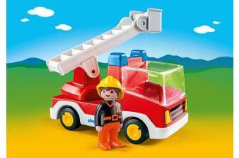 Playmobil - 1.2.3 Ladder Unit Fire Truck 6967