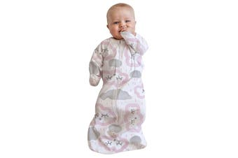 Baby Studio - All In One Swaddle Bag 0-3 Months Clouds - Pink