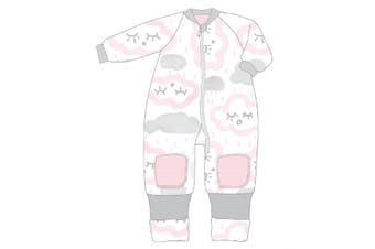 Baby Studio My First Winter Warmies Fleece with Arms 3.0Tog clouds-pink 6-12 Months
