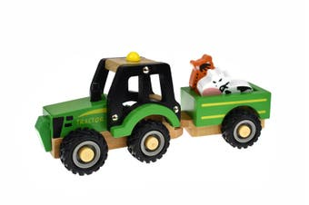 Koala Dream - Wooden Green Tractor with Animal