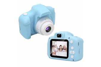 children Digital Camera,1080P FHD Digital Video Camera for Kids with 2 Inch Screen and 32GB SD Card,Rechargeable Camera for Boys Girls-Blue