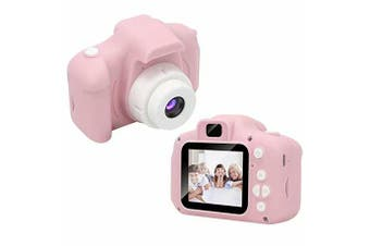 children Digital Camera,1080P FHD Digital Video Camera for Kids with 2 Inch Screen and 32GB SD Card,Rechargeable Camera for Boys Girls-Pink