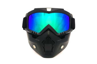 BF655 outdoor goggles and mask,UV-resistant polycarbonate scratch-resistant goggles for motorcycles riding outdoors-Black frame color film