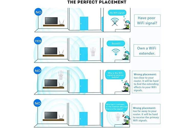Wifi Extender Wr09 300mbps Super Boost Wifi Booster Repeater Wifi Extender Signal Booster With 4 High Gain Dual External Antennas Amplifier One Button Set Up For Home Network Adapter Kogan Com