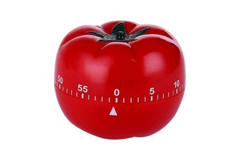 Kitchen Craft Mechanical Wind Up 60 Minutes Timer 360 Degree Rotating Tomato Shape Kitchen Cooking Timer