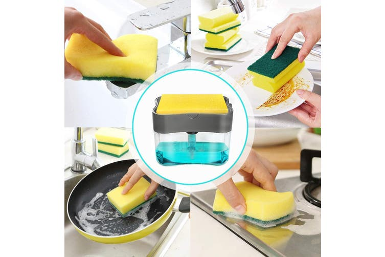 Dishwashing soap dispenser,soap dispenser sponge holder,2 in 1,dishwashing soap dispenser box,countertop soap dispenser,soap pump dispenser,sponge box