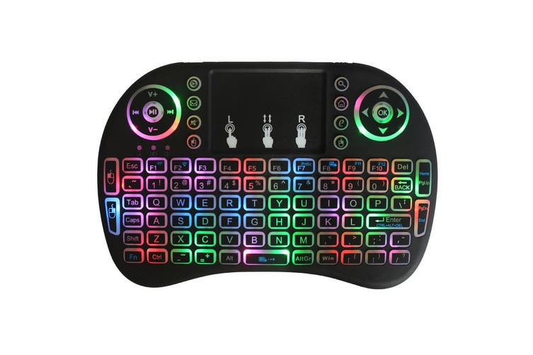 2.4GHz colorful backlit wireless keyboard touchpad mouse for Android TV BOX PC Smart TV