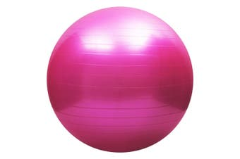Yoga balance ball,Exercise Ball for Yoga,Fitness,Balance Stability,Extra Thick Professional Grade Balance & Stability Ball - Anti Burst,Workout Program - (Pink,55cm)