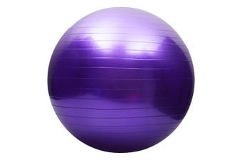 Yoga balance ball,Exercise Ball for Yoga,Fitness,Balance Stability,Extra Thick Professional Grade Balance & Stability Ball - Anti Burst,Workout Program - (Purple,65cm)