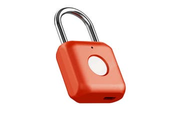 Xiaomi SmartLock Fingerprint Door Lock Padlock USB Charging Keyless Anti Theft Travel Luggage Drawer Safety Lock Red