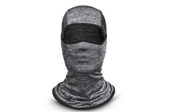 Sun protection hood,Cycling Face Mask Motorcycling Neck Warmer Hood Cooling Riding Head Wrap Ice Silk Sunlight Protection Cycling Headgear Lightgrey
