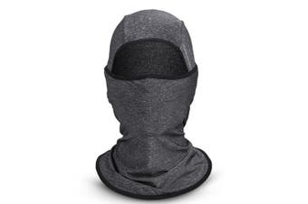 Sun protection hood,Cycling Face Mask Motorcycling Neck Warmer Hood Cooling Riding Head Wrap Ice Silk Sunlight Protection Cycling Headgear Darkgrey