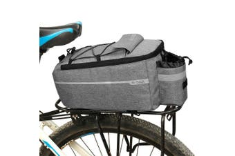 Bicycle Rear Rack Storage Luggage Bag,Insulated Trunk Cooler Bag Cycling Reflective MTB Bike Pannier Bag Shoulder Bag Grey