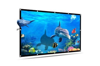 Portable Projector Screen 120 inch 16:9 Folded Thick Durable Projection Screen for Outdoor Home Theater