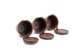 3pcs Refillable Refill Capsule Eco-Friendly Single Coffee Filters Pods Compatible with Dolce Gusto Brewers