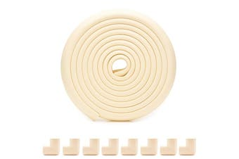 4M Baby protection edge corner protection safety edge and corner cushion | Child safety furniture cushion | Table protection cushion | Pre-adhesive corner Beige