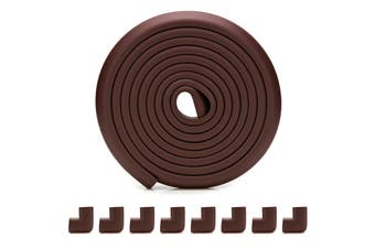 4M Baby protection edge corner protection safety edge and corner cushion | Child safety furniture cushion | Table protection cushion | Pre-adhesive corner Brown