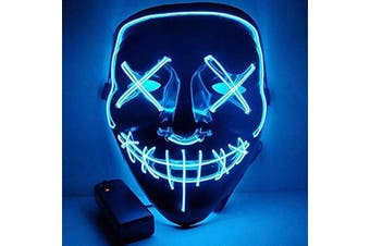 Halloween Mask Led Light Purge Mask Cosplay Halloween Party Blue
