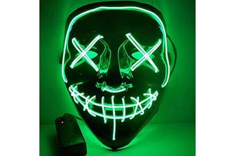 Halloween Mask Led Light Purge Mask Cosplay Halloween Party Green