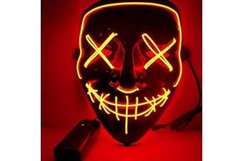 Halloween Mask Led Light Purge Mask Cosplay Halloween Party Orange