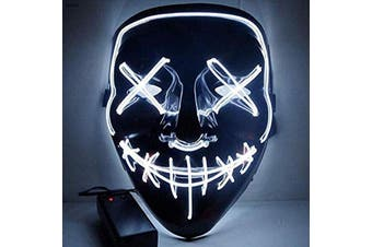 Halloween Mask Led Light Purge Mask Cosplay Halloween Party White