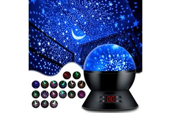 Projector Accessories Lights Stars Projector Night Lights with Timer,Gifts for Girls and Boys,Children's Room Lights Glowing Stars in the Dark Best Gift-Black